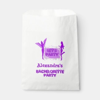 Fun girls personalized bachelorette party favor bag