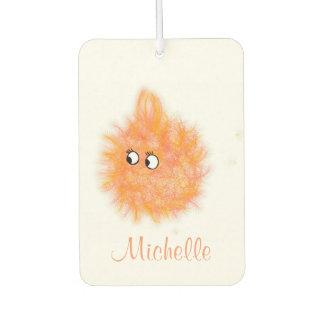Fun Girly Orange Fluffy Cute Cartoon Air Freshener
