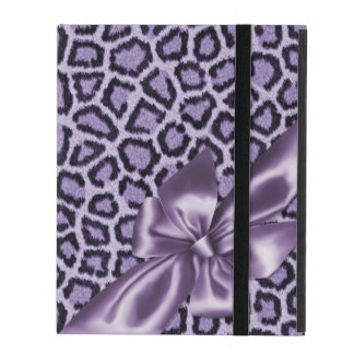 Fun Girly Purple Leopard Print iPad Folio Case