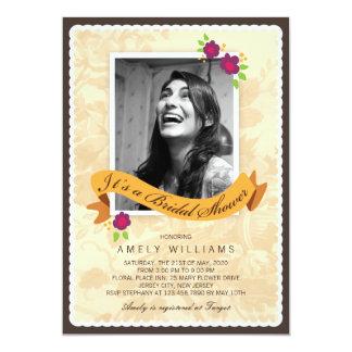Fun Girly Scrapbook Photo Bridal Shower Invitation