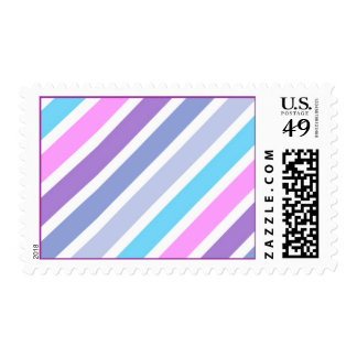 FUN GIRLY STRIPES PATTERN TEMPLATES CANDYCANE PINK POSTAGE