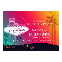 Fun Glam Las Vegas Bachelor Party Card