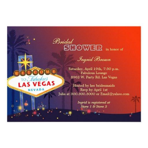 Fun, Glamorous Las Vegas Bridal Shower Invites
