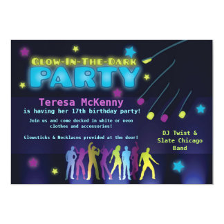 Fun Glow in the Dark Party Invitation