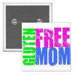 Fun Gluten Free Mom Art 2 Inch Square Button