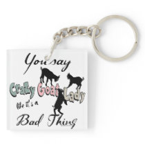 Fun Goat Lovers Goat Lady Goat Whisperer Keychain