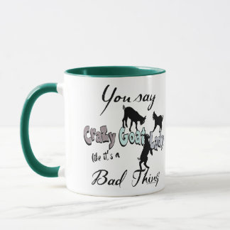FUN GOAT | You Say Crazy Goat Lady Cool SW Pastels Mug