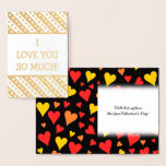 "[ Thumbnail: Fun Gold Foil ""I Love You So Much!"" Card ]"