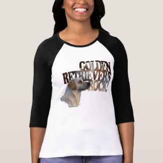 Fun GOLDEN RETRIEVER Dog-lover Art Text Shirt