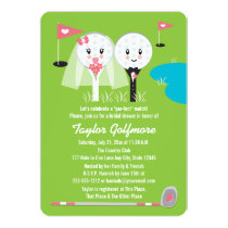 Fun Golf Ball and Tee Bride Groom Bridal Shower Invitation