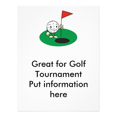 Fun Golf Flyer zazzle_flyer