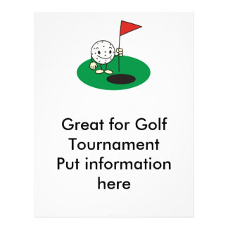Tournament flyers programs zazzle for Golf tournament program template