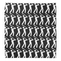 Fun GOLF Silhouette Black White Bandana