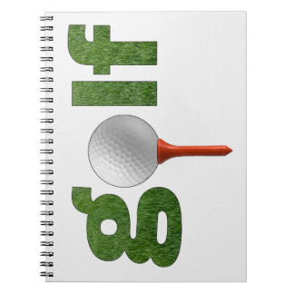 Fun Golf Sports Design Spiral Notebooks