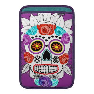 Fun Goth Sugar Skull and Roses Design MacBook Sleeve