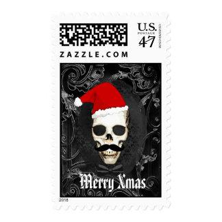 Fun Gothic Santa Christmas Postage