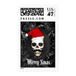Fun Gothic Santa Christmas Stamp