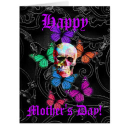 Fun gothic skull mothers day card