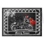 Fun gothic  steampunk  Christmas Greeting Card