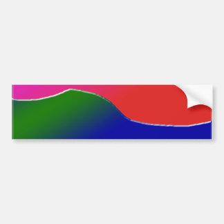 Fun Gradient Shapes Bumper Sticker