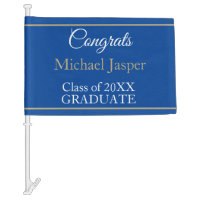 FUN GRADUATE congrats car flag