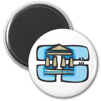Fun Greece 2 Inch Round Magnet