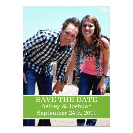 Fun Green Design Save The Date Invites