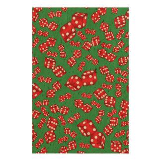 Fun green dice pattern cork fabric