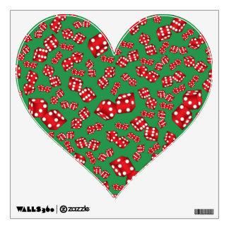 Fun green dice pattern wall graphic