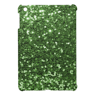 Fun Green Faux Glitter Print iPad Mini Cover