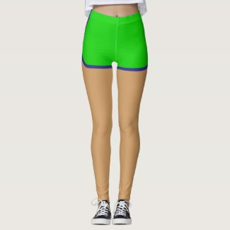 Fun Green Faux Running Shorts Athleisure