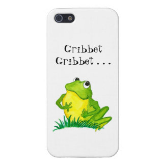 Fun Green Frog with Gribbet, Gribbet Cover For iPhone SE/5/5s