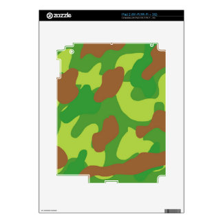 Fun Green Mix Camo Decals For iPad 2