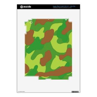 Fun Green Mix Camo iPad 3 Skin