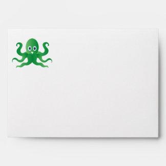 Fun green octopi envelope