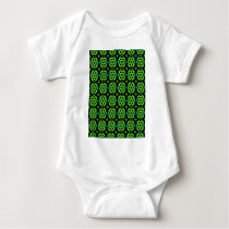 Fun Green Pattern Baby Bodysuit