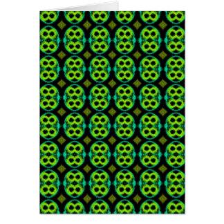 Fun Green Pattern Card