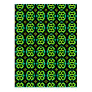 Fun Green Pattern Postcard