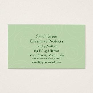 Fun Green Swirls Design Business Card