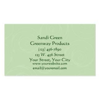 Fun Green Swirls Design Business Cards