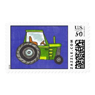 Fun Green Tractor Postage