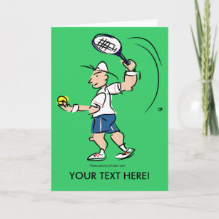 Kids tennis cards zazzle fun greeting cards for tennisplayers m4hsunfo