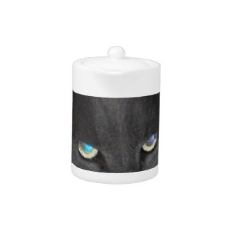 Fun Grey Kitty Cat w/ Colored Eyes