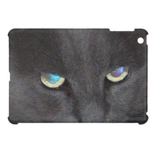 Fun Grey Kitty Cat w/ Colored Eyes Case For The iPad Mini