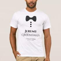 Fun Groomsman Black Tie Wedding T-shirt