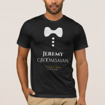 Fun Groomsman White Tie Wedding T-shirt