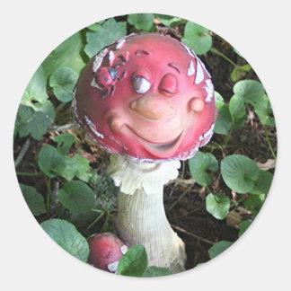 Fun guy fungi mushroom round stickers