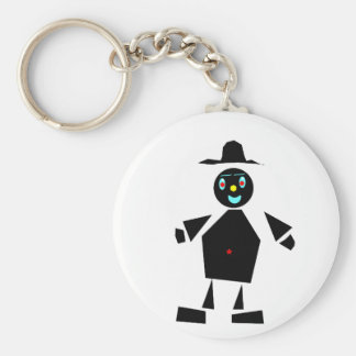 Fun guy made of shapes keychain