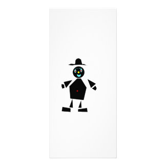 Fun guy made of shapes rack card template