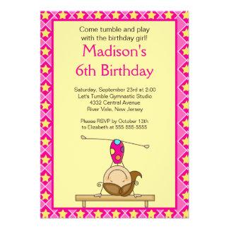 Fun Gymnastics Kids Birthday Party Invitation
